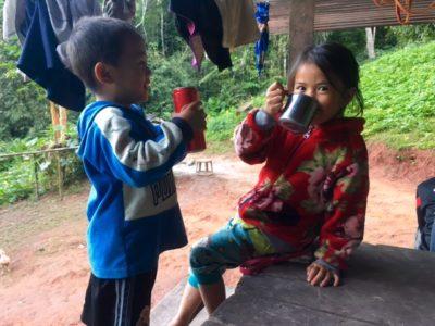 Kids sharing Fanta